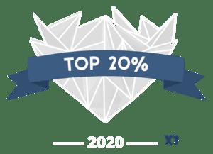 TOP 20% Award badge newborn photograher